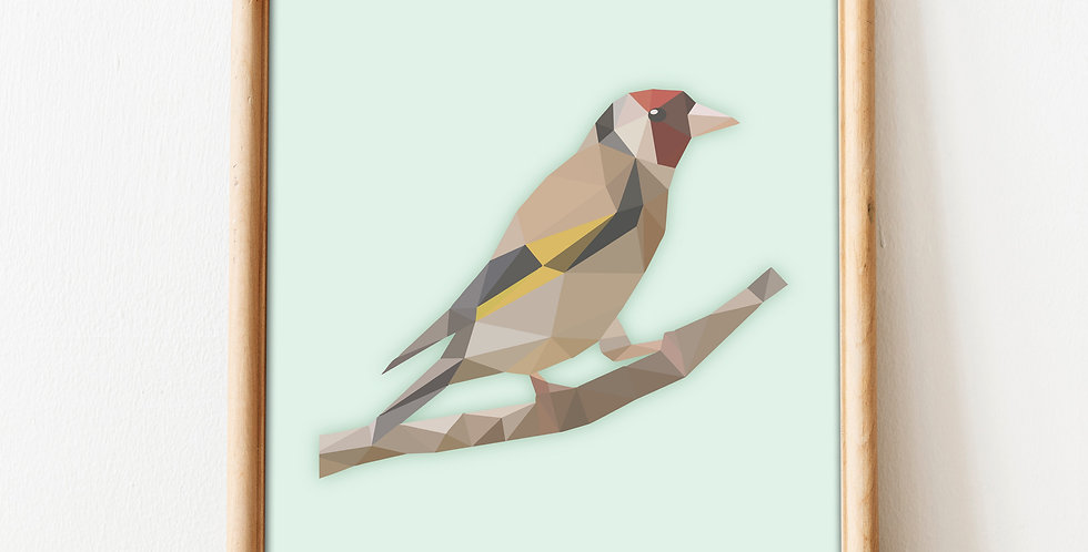 copy of Low Poly Art European Goldfinch Print