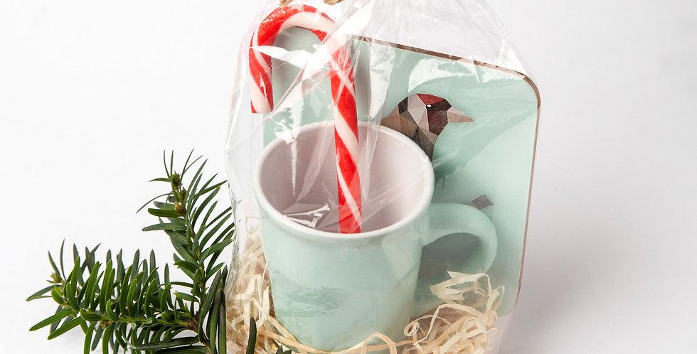 Best Christmas Set. Coaster + Espresso Cup