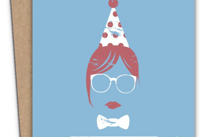 Happy Hipster - Birthday Card :)