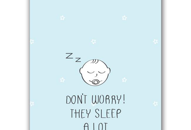 New Baby - The sleep a lot - Postcard