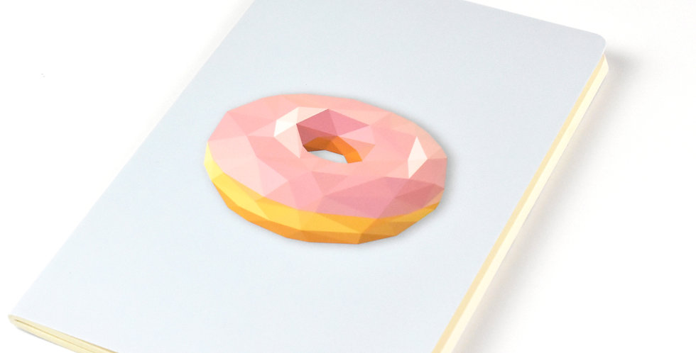Donuts  - Geometric Low Poly Art DIN A5 Notebook.