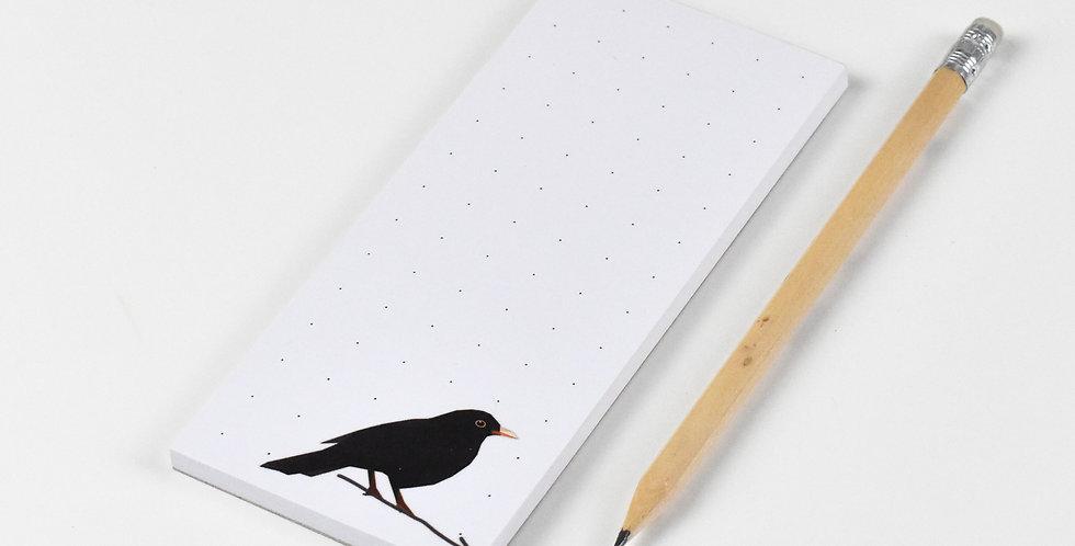 Low Poly Art Common Blackbird Block 50