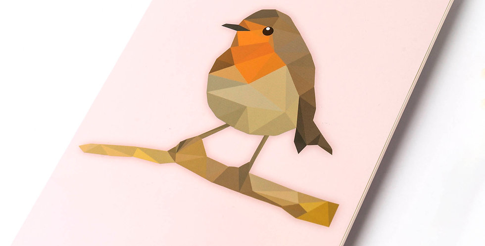 Low-Poly Art - Robin A5 DIN Notebook
