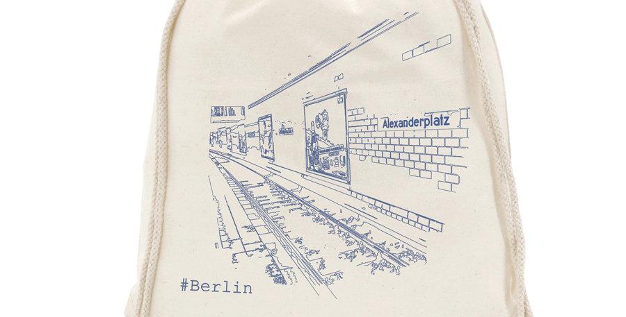 Berlin Canvas Drawstring Bag