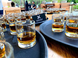 Whiskey Shots served by our Wedding Bartenders