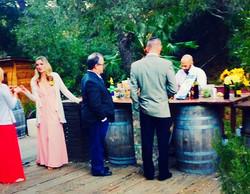 Wedding Bartender Rustic Bar
