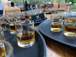 Jack Daniel's Shots Lined Up