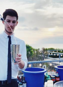 Bartending Wedding Pour