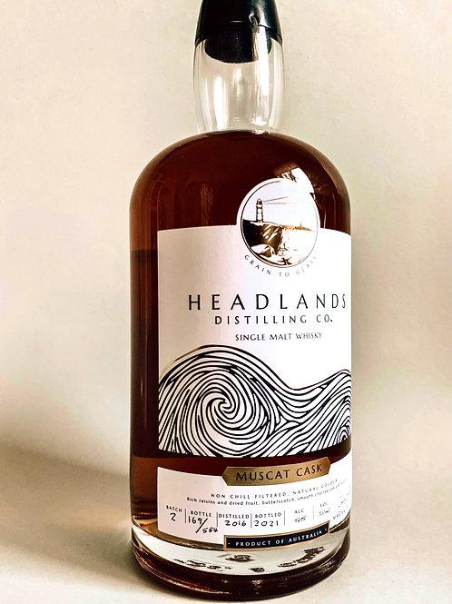 Headlands Single Malt Whisky Muscat Cask Batch 2 - PRE ORDER