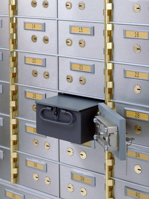 Stainless Steel Dual-key Lock  Bank Safe Deposit Box