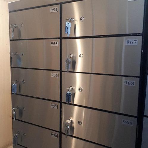 Stainless Steel Door Panel Safe Deposit Box