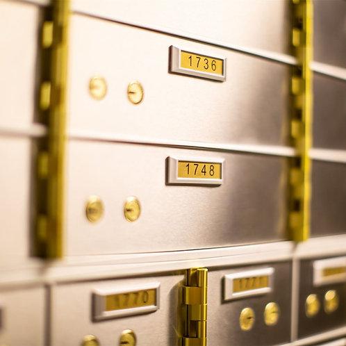 Hot Sale Museum Antique Safe Deposit Box