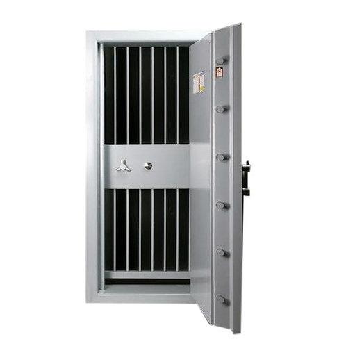 Strong room door with grill gate bank vault door