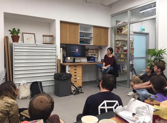 Betzalel Visual Arts students lab visit