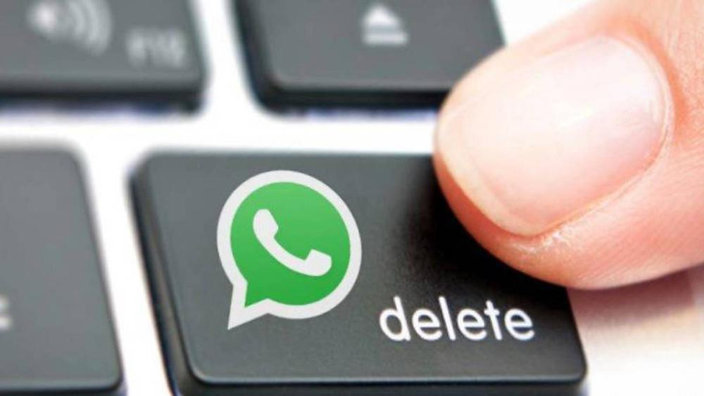 Borrar texto en WhastApp