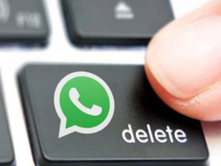 Muy pronto podrás borrar mensajes en WhatsApp