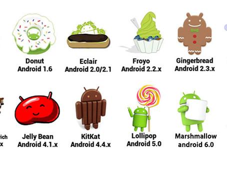 ¿Sabías que Google nombra las versiones de Android con nombres de golosinas?