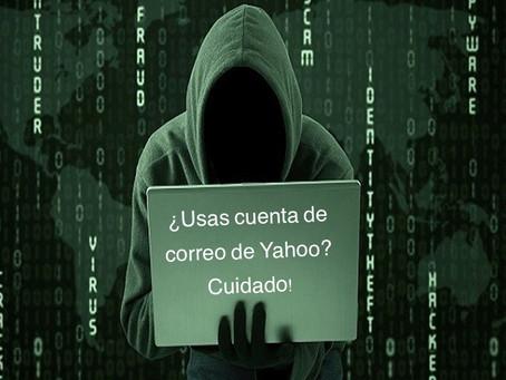 ¿Usas cuenta de correo Yahoo? ¡Tu información podría estar en riesgo!