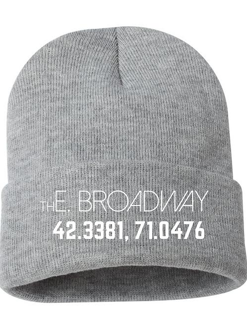 Gray Broadway Beanie