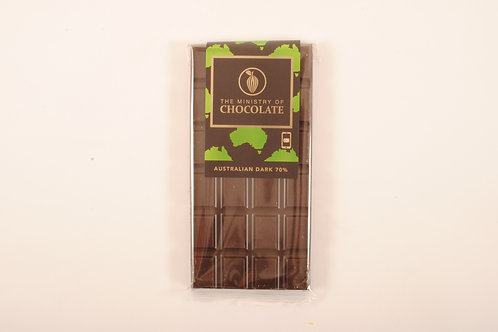 The Ministry of Chocolate 70% Australian Dark Chocolate 100g VEGAN FRIENDLY
