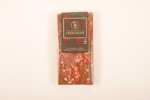 The Ministry of Chocolate Strawberry Fields Chocolate 100g
