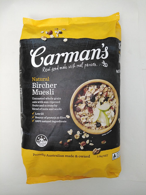 Carmans Natural Muesli (Bircher) 1.5kg