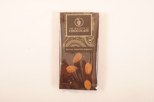 The Ministry of Chocolate Dark Salted Almond 100g VEGAN FRIENDLY
