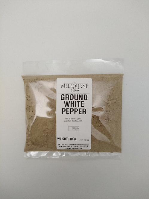 Pepper White Ground 100g