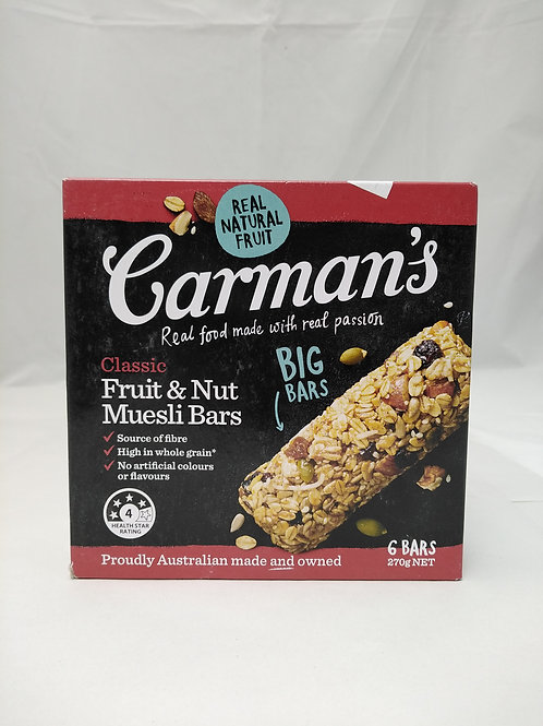 Carmans Classic Fruit and Nut Muesli Bars 6 bars