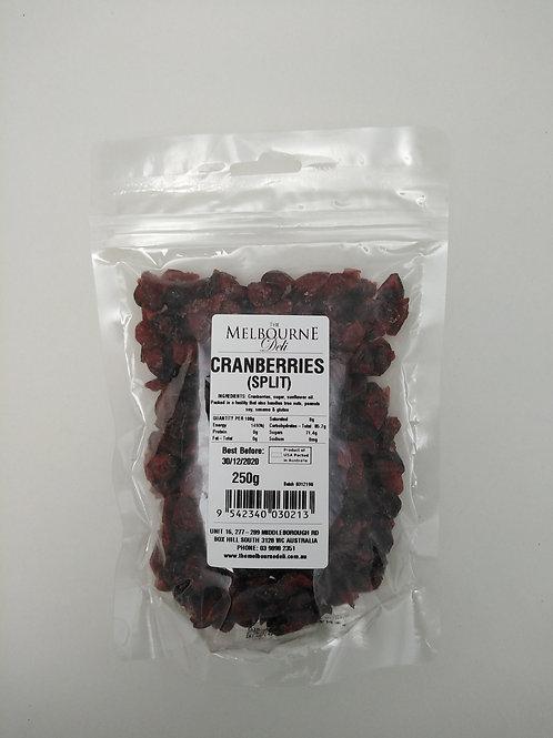Cranberries Split 250g