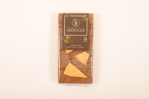 The Ministry of Chocolate, Milk Chocolate Honeycomb w Local Honey 100g
