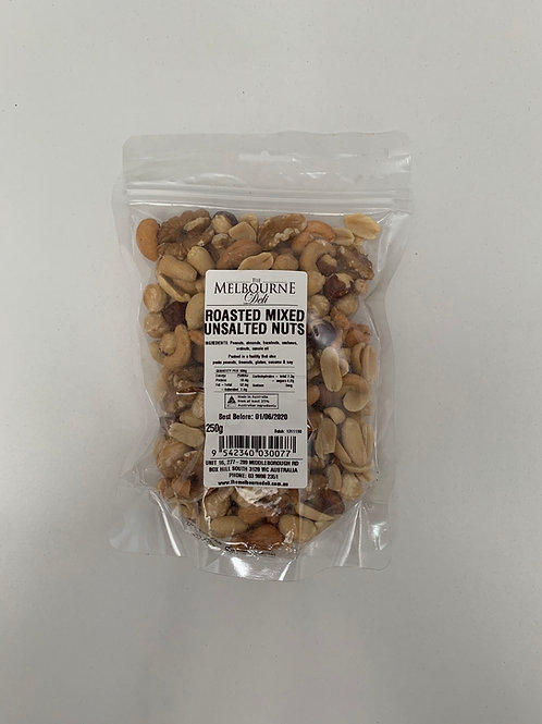 Mixed Nuts Roasted Unsalted 250g
