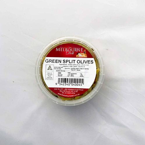 Split Green Olives 150g TMD
