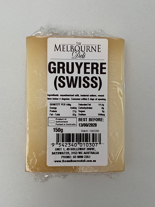 Gruyere Swiss 150g
