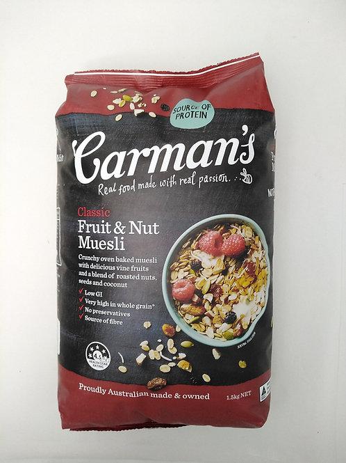 Carmans Classic Fruit and Nut Muesli 1.5kg
