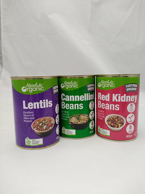 Lentils Canned Organic 400g