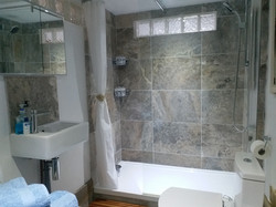 The Old Scullery shower room.