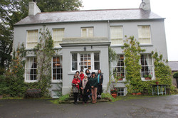 Chinese Visitors Dromore House day after the storm Ophelia