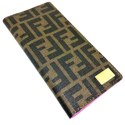 READY-TO-SHIP Authentic Upcycled Fendi Zucca Long Wallet