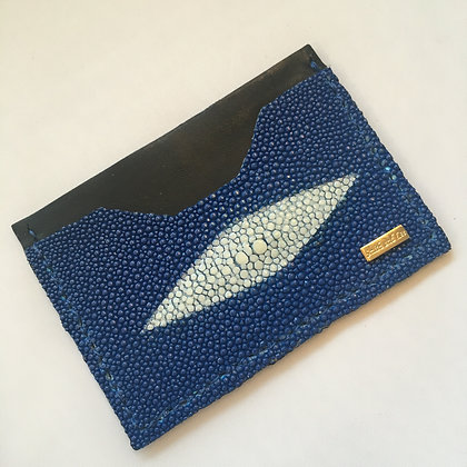 Blue Stingray Diamond Minimalist Wallet