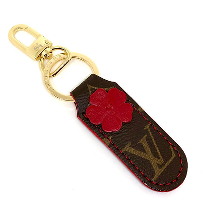 Made-to-Order Authentic Upcycled LV Floral Keychain