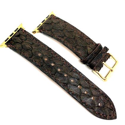 Made-to-Order Brown Python Watch Straps
