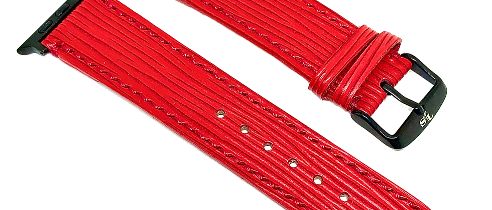 Made-to-Order Red French Epi Watch Straps