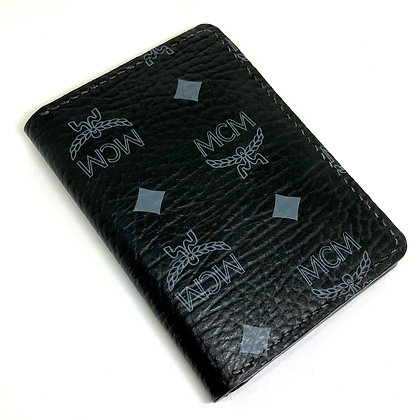 READY-TO-SHIP Upcycled Black MCM Gentlemen's Wallet