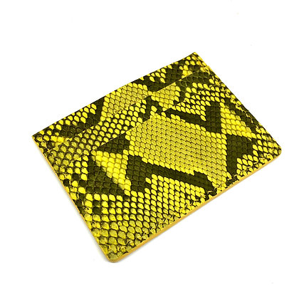 READY-TO-SHIP Yellow Burmese Python Card Holder