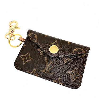 Made-to-Order Upcycled LV Snap Card Holder