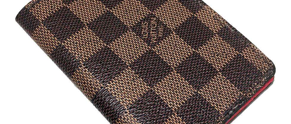 Made-to-Order Authentic Upcycled Brown Damier Gentlemen's Wallet