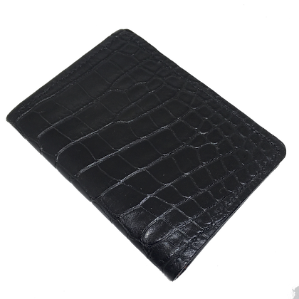 Black American Alligator Gentlemen's Wallet