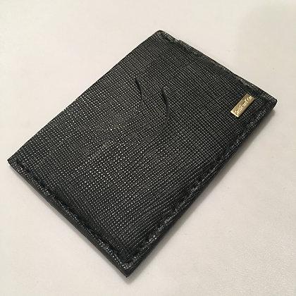 Black Saffiano Minimalist Wallet