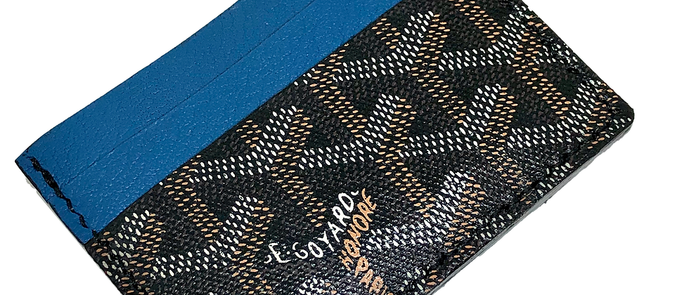 Made-to-Order  Authentic Recycled Goyard Card Holder